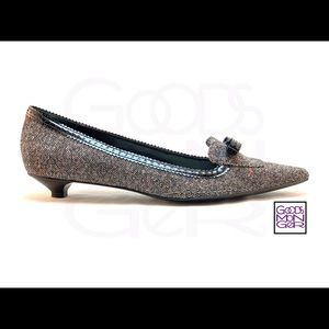 Enzo Angiolini Grey Tweed Ealeota Pumps